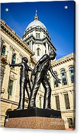 Illinois Police Officers Memorial In Springfield Acrylic Print