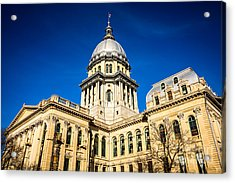 Illinois State Capitol Building In Springfield Acrylic Print by Paul Velgos