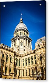 Illinois State Capitol In Springfield Illinois Acrylic Print by Paul Velgos