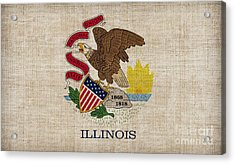 Illinois State Flag Acrylic Print by Pixel Chimp