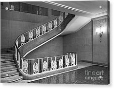 Illinois State University Williams Hall Stairway Acrylic Print by University Icons