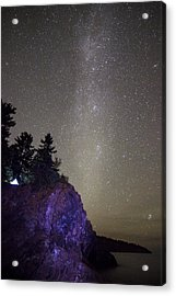 Illuminated Tent // North Shore, Lake Superior Acrylic Print