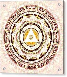Illumination Circle Acrylic Print by Anastasiya Malakhova