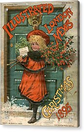 Illustrated London News 1890s Uk Holly Acrylic Print by The Advertising Archives