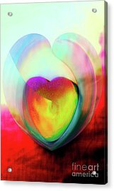 Illustration My Crazy Abstract Heart Acrylic Print