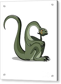Illustration Of A Brontosaurus Thinking Acrylic Print by Stocktrek Images