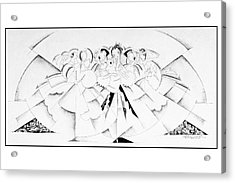 Illustration Of A Crowd Of Women Acrylic Print