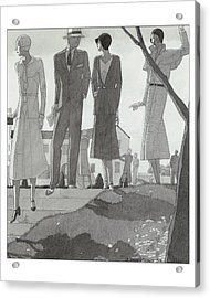 Illustration Of A Fashionable Man And Women Acrylic Print