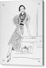 Illustration Of A Fashionable Woman Acrylic Print