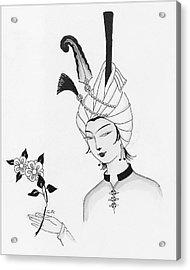 Illustration Of A Man Wearing A Headdress Acrylic Print