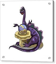 Illustration Of A Plateosaurus Fortune Acrylic Print