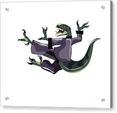Illustration Of A Raptor Performing Acrylic Print by Stocktrek Images