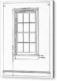 Illustration Of A Window Acrylic Print by Harry Richardson