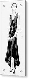Illustration Of A Woman Wearing A Dress Acrylic Print