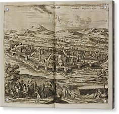 Illustration Of Baghdad In The 17th Centu Acrylic Print by British Library