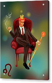 Illustration Of Characteristic Of A Leo Businessman Acrylic Print by Fanatic Studio / Science Photo Library