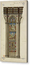 Illustration Of Church Stained Glass Wind Acrylic Print by British Library