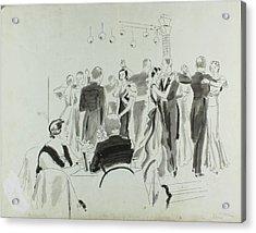 Illustration Of Elsa Maxwell's Birthday Party Acrylic Print