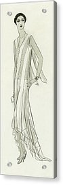 Illustration Of Mlle. Patino Wearing A Dress Acrylic Print