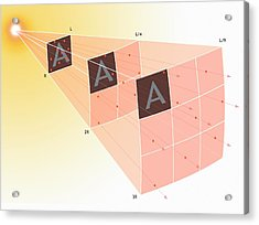 Illustration Of The Inverse Square Law Acrylic Print by Mark Garlick