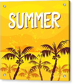 Illustration Summer Acrylic Print