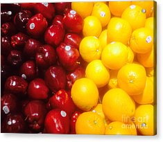 I'm Comparing Apples And Oranges Acrylic Print