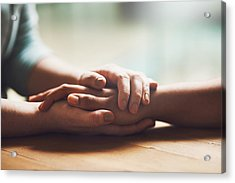 I'm Here For You Acrylic Print by PeopleImages