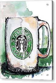 I'm Thinking Starbucks Acrylic Print by Terry Banderas