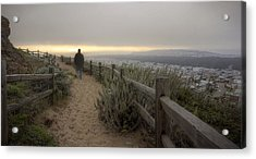 Acrylic Print featuring the photograph I'm Walking In The Wind Looking At The Sky by Peter Thoeny