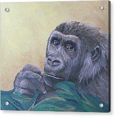 Acrylic Print featuring the painting I'm Watching You by Margaret Saheed