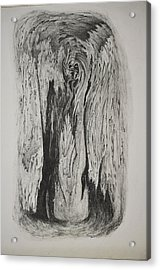 Image Of Face In Wood Bark Acrylic Print by Glenn Calloway