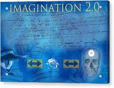 Imagination 2.0 Acrylic Print by Diskrid Art