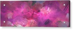 Imagination In Ruby Fire - Abstract Art Acrylic Print