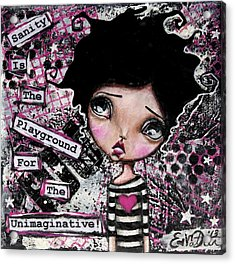 Imagination Acrylic Print by Lizzy Love of Oddball Art Co