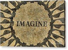 Imagine - John Lennon Acrylic Print by Lee Dos Santos