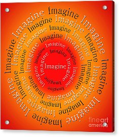 Imagine 5 Acrylic Print by Andee Design