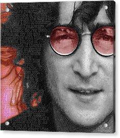 Imagine John Lennon Again Acrylic Print by Tony Rubino