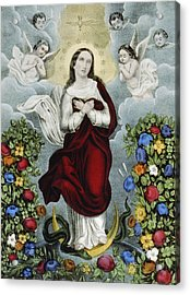 Immaculate Conception Circa 1856  Acrylic Print by Aged Pixel