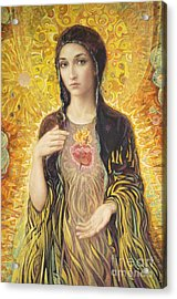 Immaculate Heart Of Mary Olmc Acrylic Print by Smith Catholic Art