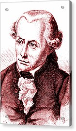 Immanuel Kant Acrylic Print