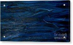 Immense Blue Acrylic Print by Silvana Abel