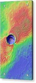 Impact Crater In Arcadia Planitia Acrylic Print