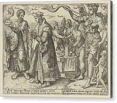 Impact Of Wealth, Philips Galle, Hadrianus Junius Acrylic Print by Philips Galle And Hadrianus Junius