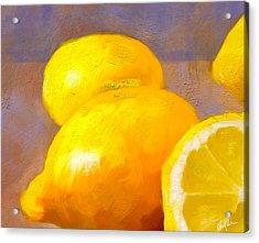 Impasto Lemons Acrylic Print