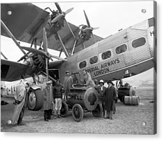 Imperial Airways Aeroplane, 1931 Acrylic Print by Science Photo Library