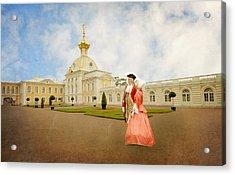 Acrylic Print featuring the digital art Imperial Peterhof by Roy  McPeak
