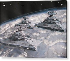Imperial Star Ship Destroyers Acrylic Print by Vikram Singh