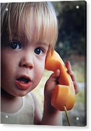 Important Call Acrylic Print