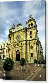 Imposing Church Of San Pedro Claver Acrylic Print