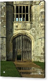 Imposing Front Door Of Titchfield Abbey Acrylic Print by Terri Waters
